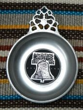 Old Mill Pewter Dish Condiment Bowl  Decorative Dish Liberty Bell, Lancaster PA