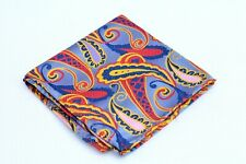Lord R Colton Masterworks Tie - Istanbul Blue Paisley Silk Square - $75 New
