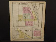 Michigan Clare County Map Harrison Crooked Lake c.1905    J14#20