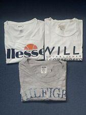 Mens Tshirt Bundle Jack Wills Tommy Hilfiger Ellesse Two Large And One Medium