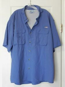 World Wide Sportsman Men's Size 4XL Blue Color BF Vented SS Fishing Shirt
