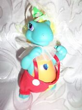 "1993 Blue Dragon Orange Yellow Hair Clown Outfit 7"" Toy Jeweled"