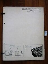 John Deere No. 7  Sheller Corn Cylinder Parts Catalog Manual ORIGINAL