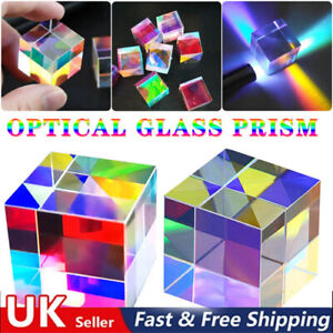CMY Optic Prism Cube - Optical Glass Prism, RGB Dispersion Six-Sided UK Stock !