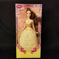 "NEW Disney Store Exclusive Belle 12"" Poseable Princess Doll Beauty and the Beast"