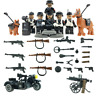 SET WW2 Army Camouflage soldiers weapons figure D Toys Custom