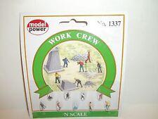 New Model Power Work Crew Figures N Scale Railroad
