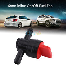 Universal Plastic 6mm Inline On/Off Switch Fuel Tap Fit for 1/4 Pipe Hose TP