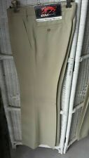 1970s Men's Flares orig Cougars Brussels label size 30R beige trousers Unused