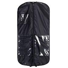 """Hangerworld™ 3 Black 54"""" Nylon Suit Travel Bags Garment Clothes Cover Storage"""