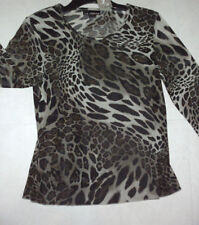 Women's Regular Animal Print 3/4 Sleeve Sleeve Polyester Tops & Blouses