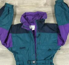 Vintage Columbia Medium Bib One Piece Snow Suit Ski Snowboarding 90s Colorblock