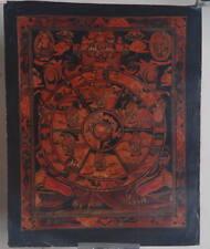 WHEEL OF LIFE Thangka! Tibetan Tantra Buddhist Hand paint Prayer Auspicious