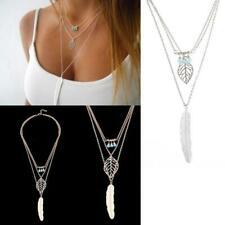 Fashion Women's Fashion Metal Leaves Hot Sale Western Style Feather Beaded N3