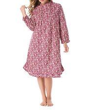 Plus Size Deep Iris Floral Cotton Flannel Print Short Nightgown Size 2X(26/28)