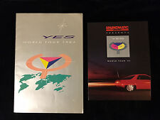 YES-90125 WORLD TOUR-CONCERT PROGRAM BOOK LOT-INCLUDES SPARKOMATIC BROCHURE 1984