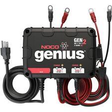 NOCO Genius GENM2 8 Amp 2-Bank Waterproof Smart On-Board Battery Charger Boat RV