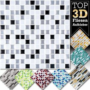 3D Fliesenaufkleber Mosaik Fliesen Küche Bad Fliesenfolie große Auswahl W5423