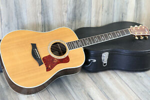 2002 Taylor 810 Natural Acoustic/ Electric Dreadnaught Guitar + OHSC