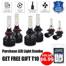 For Dodge Charger 2006-2009 LED Combo 9005 9006 9145 Headlight Fog Light 6 Bulbs