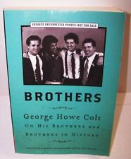 2012 BROTHERS Book Advanced Uncorrected Proof by George Howe Colt Big House -SH