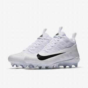 New Nike Alpha Huarache 6 Pro Lax Men's US 12 Lacrosse Shoe White Cleat 904581