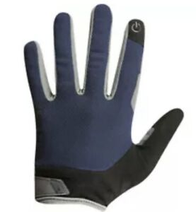 Pearl Izumi Attack Full Finger Gloves Small Navy Blue/Grey