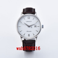 Corgeut 40mm Sapphire Crystal White Dial Date MIYOTA Automatic mens Watch