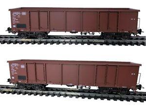 Piko 58380 - 2er Set Offene Güterwagen Eaos, DB, Ep. IV DC #NEU in OVP#