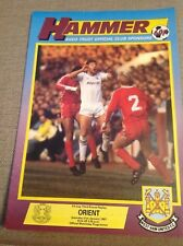 West Ham United v Orient 31st January 1987 FA Cup Programme Used Condition