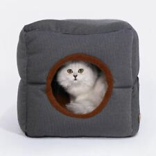 New Warm Pet Dog Cat House Beds Tent Sofa Bed 2 USES Cushion Kitty Indoor house