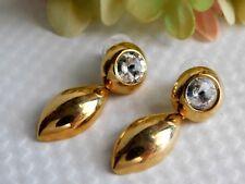NEW Rivoli Head light Crystals RAFFINE & TISI Gold Plated Runway Earrings D30