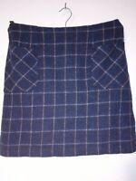 Laura Ashley tweed 100% wool British Cloth skirt UK 16 Pockets WOW