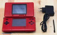 Nintendo DS - Konsole #rot / flame red + Stromkabel