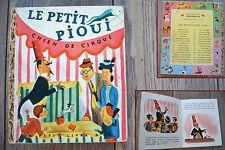 ancien livre BD un petit livre d'or Le petit Pioui chien de cirque 1951