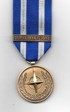 ***NEW*** NATO MEDAL WITH CLASP; OUP - LIBYA / LIBYE     FULL-SIZE MEDAL