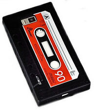 Retro Tape Silikon TPU Cover Handy Case In schwarz für LG P700 Optimus L7