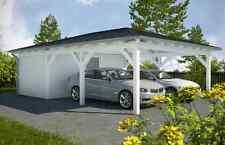 NEU Premium Walmdachcarport mit Geräteraum 6.00 x 9.00 Carport ab Werk