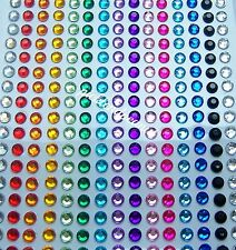 300 5mm Self Adhesive Rhinestones Diamante Jewel Gem Mixed Colour Clear Stick On