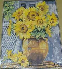 Sunflowers in Clay Pot Flowers Floral Tapestry Needlepoint Canvas Margot
