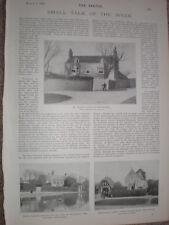 Printed photos Rudyard Kipling house Cardinal Manning's school Rottingdean 1899