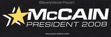 McCain President 2008 Presidential Election Bumper Sticker
