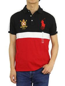 Polo Ralph Lauren Big Pony Custom Slim Fit Emblem Short Sleeve Polo Shirt