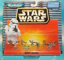 STAR WARS MICRO MACHINES CLASSIC BOUNTY HUNTERS 9 PC MINI FIGURE SET  * RARE *