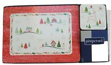 Pimpernel Christmas Wish Placemats x 6 and Coasters x 6 Two Designs New