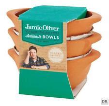 Jamie Oliver Antipasti-Schüssel-Set  3 Stück Terrakotta natur innen lasiert K193