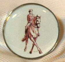 Fine Art Horse Snap Rider & Horse Dressage Half Pass 18-20Mm Some With Bubbles!