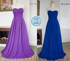 A-Line/Princess Full-Length Chiffon Evening Prom Bridesmaid Dress(JS21)