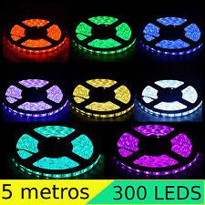 TIRA LED SMD 3528 5 METROS 300 LED ADHESIVA 5M ROJA VERDE BLANCA AZUL RGB...
