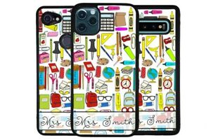 Teacher Appreciation Clip Art Personalize Phone Case for Apple Samsung LG Google